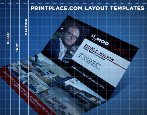 Folded Business Cards Templates Free Download PrintPlacecom - Folded business card template