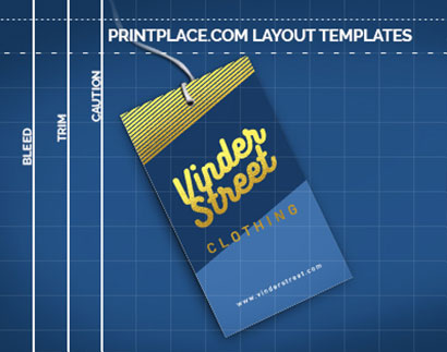 Foil Hang Tags Layout Templates