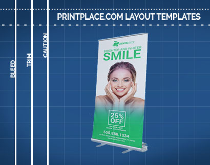 retractable banners templates free download printplace com