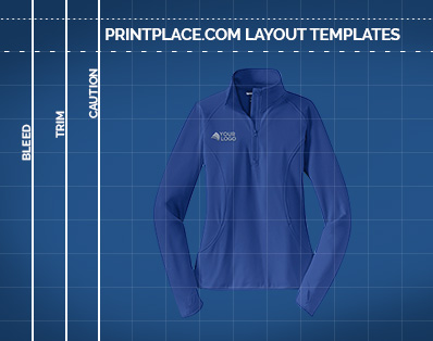 Ladies Sport-Wick® Stretch 1/2-Zip Pullover Printing