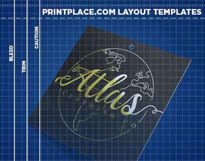 Metallic Hang Tags Layout Templates