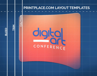 Curved Tension Pop-Up Display Layout Templates