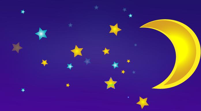 moon and stars vector tutorial using illustrator