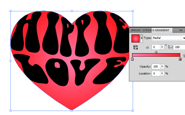 how to draw shapes inside text illustrator