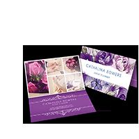 Business card printing standard die cut folded printplace folded business cards colourmoves