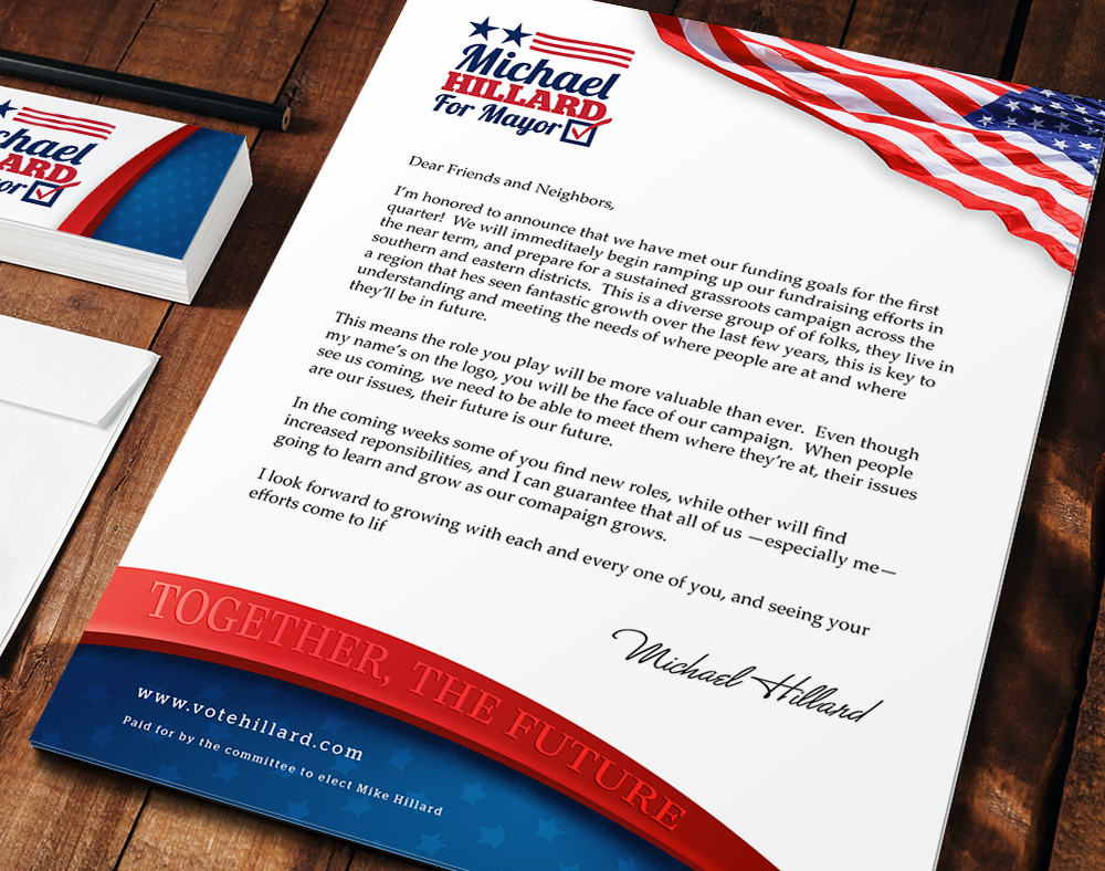 Political Letterhead Customized Campaign Logos PrintPlace - Custom vinyl stickers for walls   for your political campaign