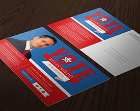 Political campaign printing direct mail for Campaign mailer template