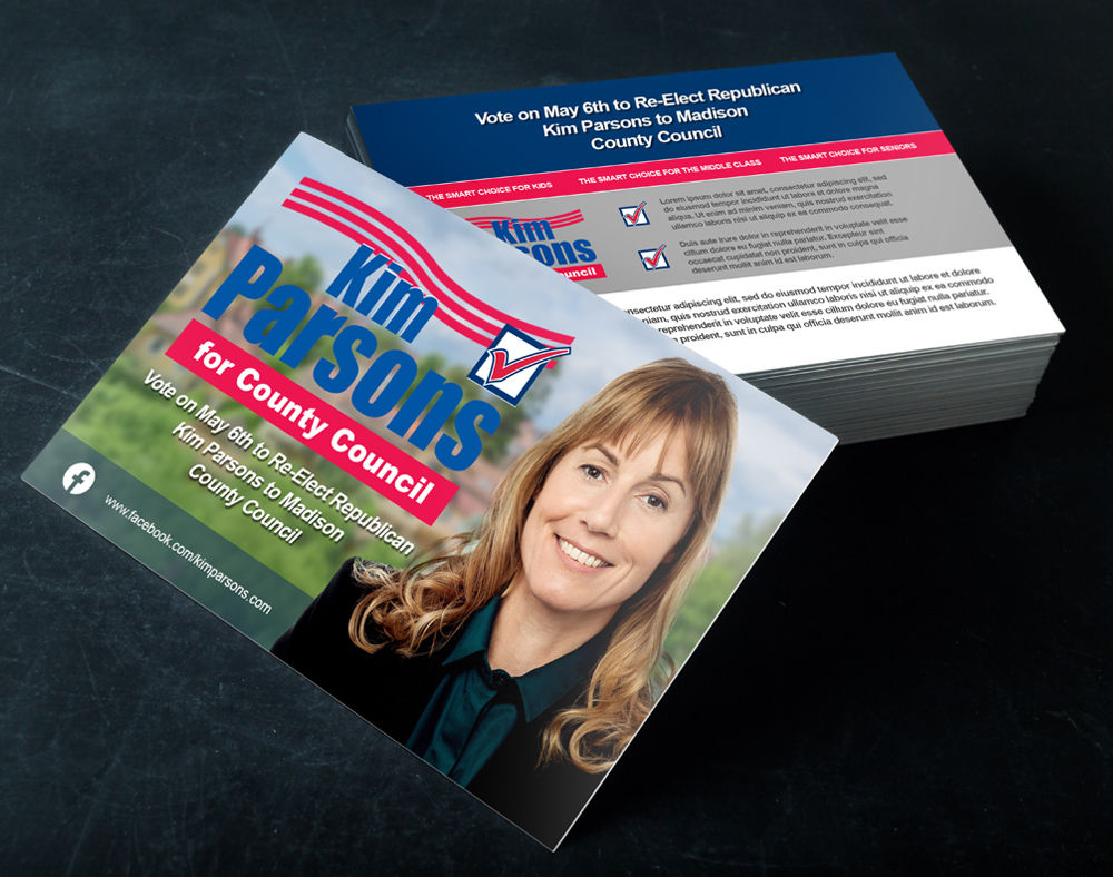 Political Push Cards Pocketsized Campaign Sign PrintPlace - Political palm card template