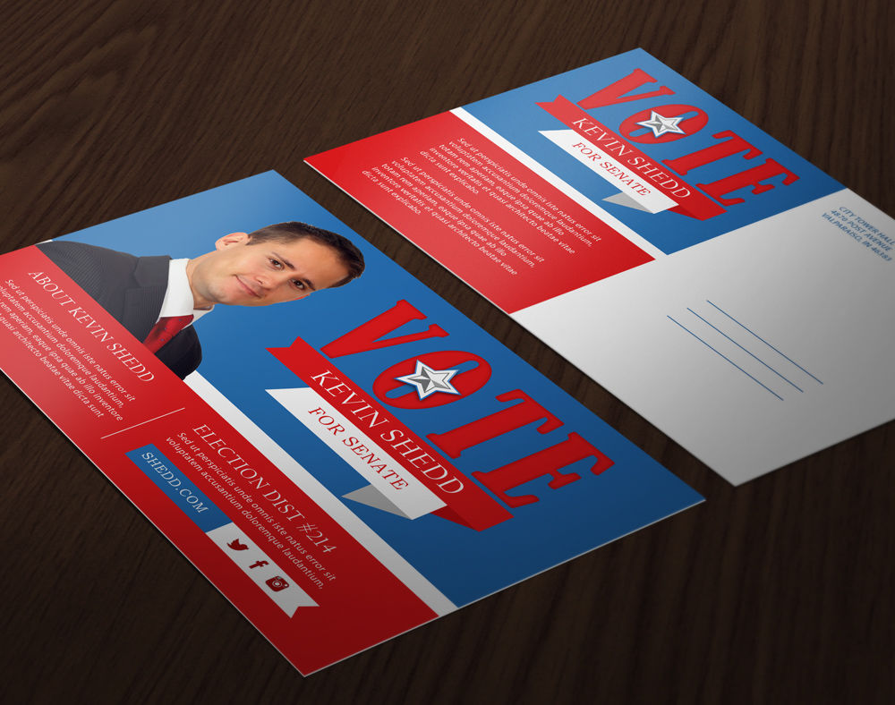 political postcard printing and mailing