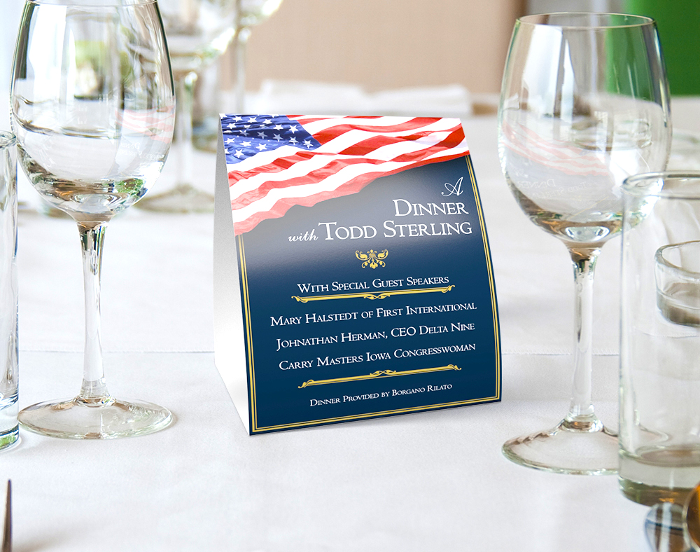Campaign Table Tents