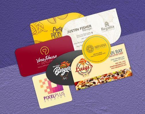 custom shaped business cards