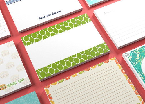 how to print on notecards
