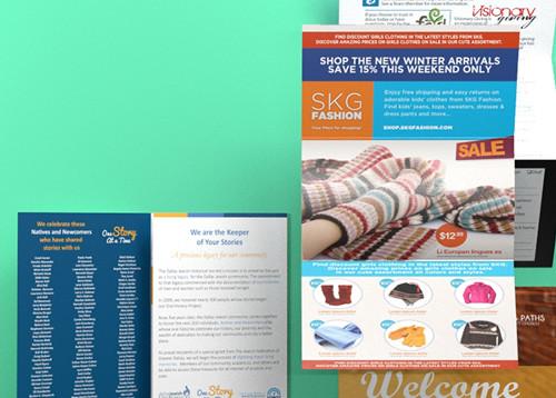 folding postcard