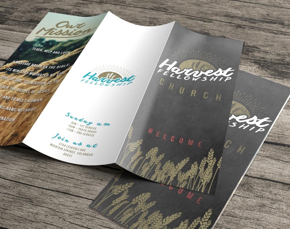 Premium church brochure printing flat or folded printplace custom printed church brochure kristyandbryce Images