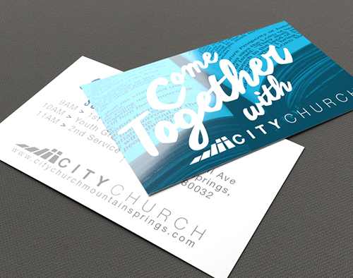 Church invite card printing 3 cardstock options printplace custom printed church invite cards stopboris Choice Image