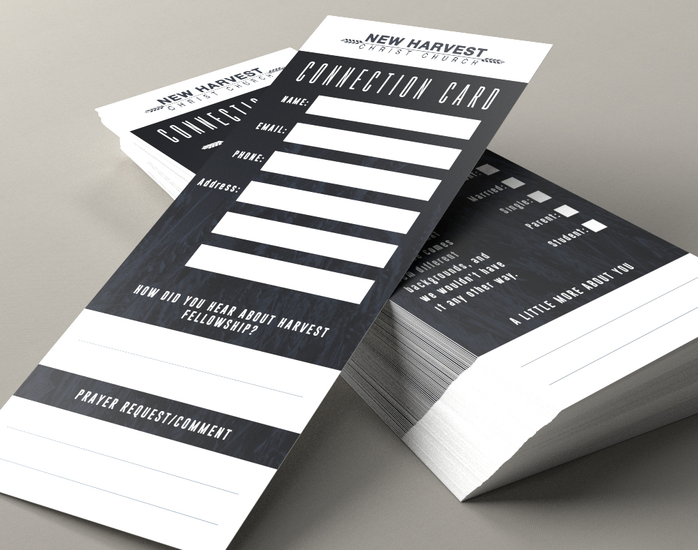 Church Connection Cards - Full Color Printing | PrintPlace