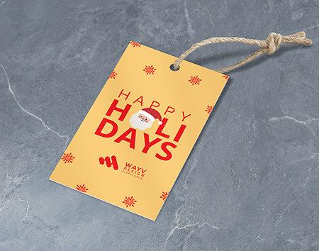 Print Holiday Hang Tags