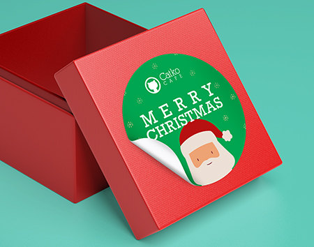 Print Holiday Stickers
