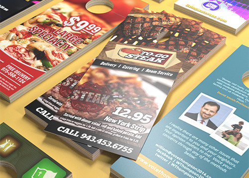 Door Hanger Printing High Quality Cardstock – Restaurant Door Hanger Template