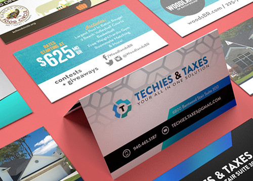High Quality Fold Over Business Cards