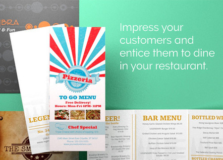 Custom Restaurant Menu Printing