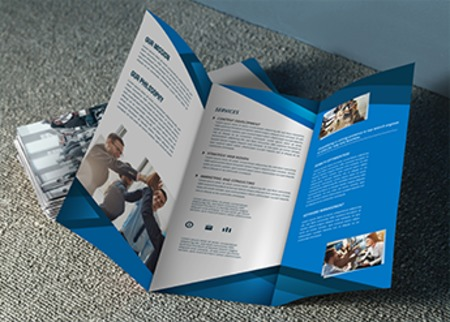 brochure printing flat and folded brochures