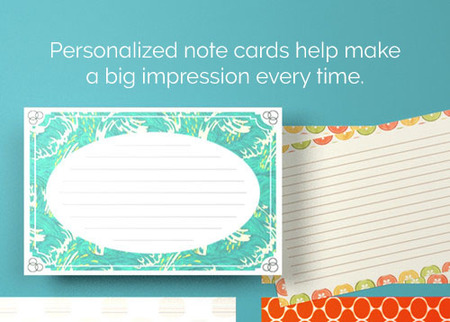 print personalized note cards - Note Cards