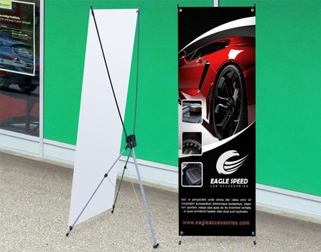 Premium X Banner Stand Printing For Outdoor Events