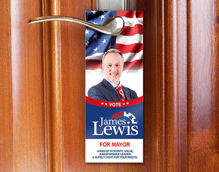 Political Door Hanger Printing