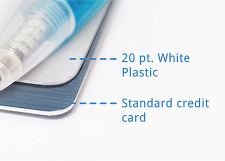 Plastic business card printing rectangle square or oval printplace plastic business card thickness reheart Choice Image