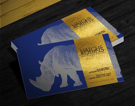Foil Business Cards Gold Silver Copper Foil Business Card