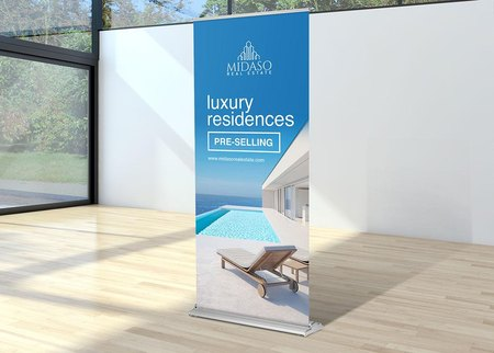 premium retractable banner with stand