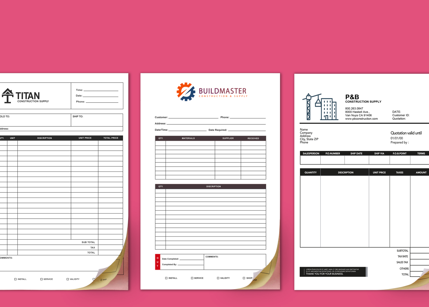 Carbonless Form Printing Premium NCR Forms PrintPlace - Carbonless invoices