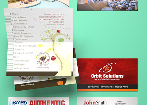 Folded business card printing gloss matte high gloss printplace reheart Image collections